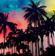 Tropical Colors Poster
