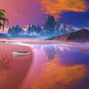 Tropical Dream Island Beach Poster
