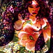 Tropical Flower Girl Poster