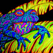 Tropical Frog Poster