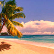 Tropical Island 6 - Painterly Poster