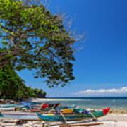 Tropical Island Panorama Paradise Poster
