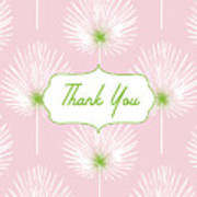 Tropical Leaf Thank You- Art By Linda Woods Poster