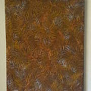 Tropical Palms Canvas Copper Silver Gold - 16x20 Hand Painted Poster