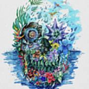 Tropical Skull 2 Poster