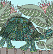 Tropical Turtle Poster