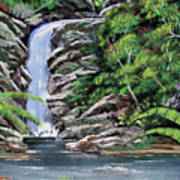 Tropical Waterfall 2 Poster