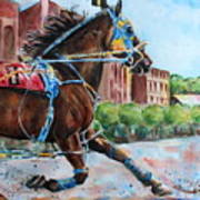trotter standardbred Horse at the Little Brown Jug Poster