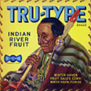 Tru - Type Vintage Fruit Crate Label Poster