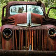 Truck In Medow Poster