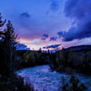 Truckee River Sunset Poster