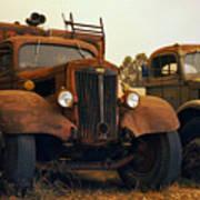 Trucks Under Smoke Poster