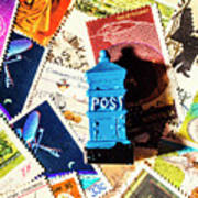 True Blue Postbox Poster