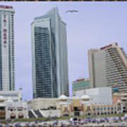Trump Palace Tajmahal Hotel Atalantic Beaches And Board Walk America Photography By Navinjoshi At  Poster