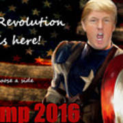 Trump Revolution Poster by Guy  Cannon