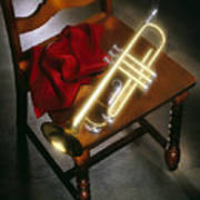 Trumpet On Chair Poster