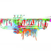 Trumpet Painted Digital Art Poster