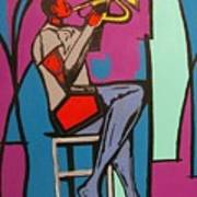 Trumpet Player II Poster