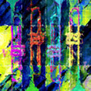 Trumpets Abstract Poster