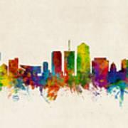 Tucson Arizona Skyline Poster