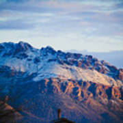 Tucson Mountains Snow Poster