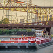 Tug Derek E And Barge On The Calumet River Poster