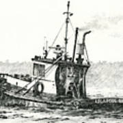 Tugboat Lela Foss Poster