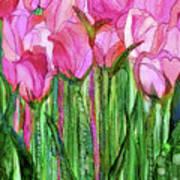 Tulip Bloomies 1 - Pink Poster