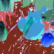 Tulipani Blu E Corallo Poster