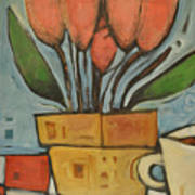 Tulips And Coffee Poster