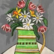 Tulips And Daisies Poster
