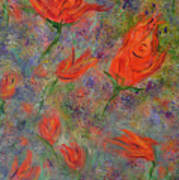 Tulips- Floral Art- Abstract Painting Poster