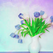 Tulips In Winter Poster