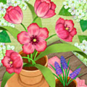 Tulips On A Spring Day Poster