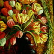 Tulips With Apple Poster