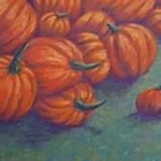 Tumbled Pumpkins Poster