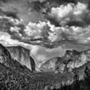 Tunnel View In Black And White Poster