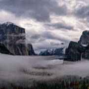 Tunnel View Storm Clouds Poster