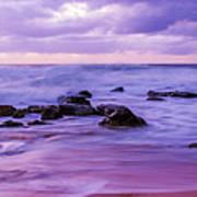 Turbulent Daybreak Seascape Poster