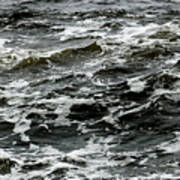 Turbulent Water Near The Shore Poster