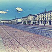 Turin, Square Vittorio. Poster