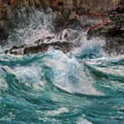 Turmoil In Blue Poster