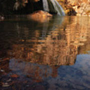 Turner Falls Autumn Reflections Poster