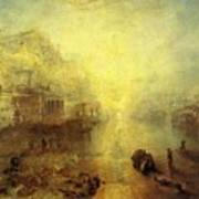 Turner Joseph Mallord William Ancient Italy Ovid Banished From Rome Joseph Mallord William Turner Poster