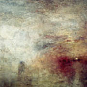 Turner: Sun Setting, C1840 Poster