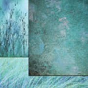 Turquoise Textures Poster