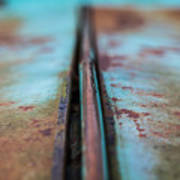 Turquoise And Rust Abstract Poster
