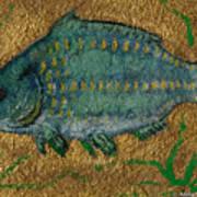 Turquoise Carp Poster by Anna Folkartanna Maciejewska-Dyba