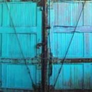 Turquoise Doors Poster