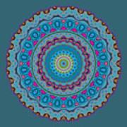 Turquoise Necklace Mandala Poster
